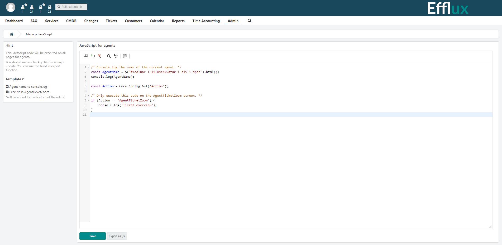Custom CSS Admin-Bereich